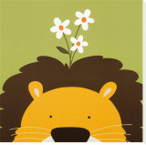 Peek-a-Boo IX, Lion Stretched Canvas Print by Yuko Lau