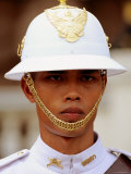 Ceremonial Guard in Uniform, Grand Palace, Bangkok, Thailand Photographic Print by Ray Laskowitz
