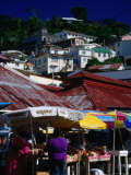 Public Market on Saturday, St. George's, St. George, Grenada Photographic Print by Margie Politzer