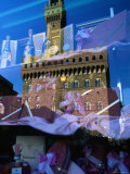 Palazzo Vecchio Reflected in Shop Window, Florence, Tuscany, Italy Photographic Print by John Elk III