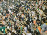 Baseball Fans at the Kobe Blue Wave's Yahoo Stadium, Kobe, Kinki, Japan Photographic Print by Brent Winebrenner