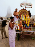Hindu Chariot at Chamundi Hill, Mysore, Karnataka, India Photographic Print by Greg Elms