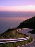 Guide Rail along Coastal Road, Near San Francisco, California Photographic Print by Thomas Winz