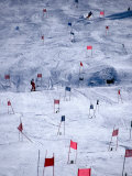 Downhill Ski Race Fotografiskt tryck av Mark Newman