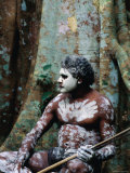 Indigenous Australian Dancer with Body Paint, Mossman Gorge, Queensland, Australia Photographic Print by Michael Coyne