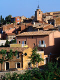 Village in Luberon Region, Roussillon, Provence-Alpes-Cote d'Azur, France Photographic Print by Glenn Van Der Knijff
