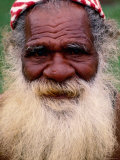 Kanak Elder, Noumea, South Province, New Caledonia Photographic Print by Peter Hendrie