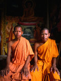 Two Novice Monks from Phnom Penh, Cambodia Photographic Print by John Banagan