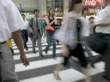 Rush Hour Pedestrian Traffic, Kobe, Kinki, Japan Photographic Print by Brent Winebrenner
