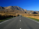 Highway 73 at Castle Hill Basin near Arthur's Pass, New Zealand Photographic Print by Ross Barnett