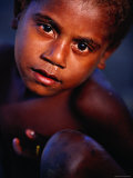 Young Boy from Tapau Kastom Village, Tanna Island, Tafea, Vanuatu Photographic Print by Richard I&#39;Anson
