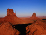 West Mitten Butte and East Mitten Butte, Monument Valley Navajo Tribal Park, Utah Photographic Print by Ross Barnett