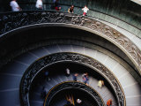 Ornate Spiral Staircase at Vatican Museums, Rome, Lazio, Italy Photographic Print by Glenn Beanland