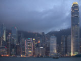 Victoria Harbor and the Skyline from Kowloon, Hong Kong, China Photographic Print by Brent Winebrenner