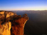 Hanging Rock Overlooking the Grose River Gorge Near the Town of Blackheath, Australia Photographic Print by Ross Barnett