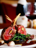 Rack of Lamb at European Restaurant in Spring Street, Melbourne, Victoria, Australia Photographic Print by Greg Elms