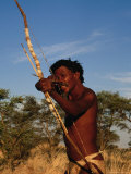 Kalahari Bushman with Bow and Arrow, South Africa Photographic Print by Ariadne Van Zandbergen