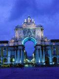 Praca de Comercio Arco de Victoria, Lisbon, Portugal Photographic Print by Brent Winebrenner