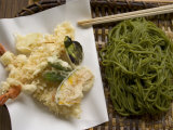 Soba Noodles and Prawn Tempura, Kyoto, Japan Photographic Print by Greg Elms