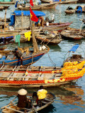 Trading on Boats in Halong Bay, Dao Cat Ba, Hai Phong, Vietnam Photographic Print by Anthony Plummer