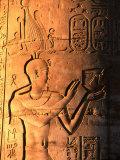 Relief at Temple Built in 1St Century Bc, Kom Ombo, Egypt Photographic Print by John Elk III