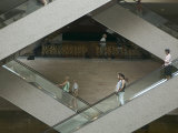 Escalators in the Shanghai Museum, Shanghai, China Photographic Print by Brent Winebrenner