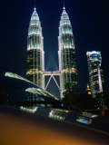 Petronas Towers at Night Reflected Off a Car Hood, Kuala Lumpur, Wilayah Persekutuan, Malaysia Photographic Print by Dominic Bonuccelli