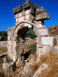 Triumphal Arch of Emperor Vespasian from Lycian Era, Xanthos, Mugla, Turkey Photographic Print by John Elk III