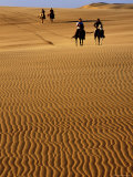 Horse-Riders on Huge Sand Dune, Medanos de Coro National Park, Falcon, Venezuela Photographic Print by Krzysztof Dydynski