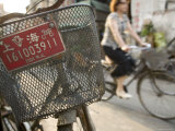 Bicycles in the Old Town, Shanghai, China Photographic Print by Brent Winebrenner