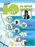 10 Ways To Drink Water Plakater