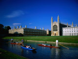 King's College Chapel and Punts on River, Cambridge, Cambridgeshire, England Photographic Print by David Tomlinson