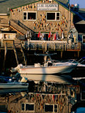 Fishing Buoys Reflected in Water, Boothbay Harbor, Boothbay, Maine Photographic Print by John Elk III