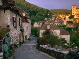 Street Scene, St. Cirq Lapopie, Midi-Pyrenees, France Photographic Print by John Elk III