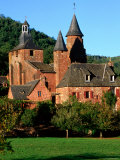St. Pierre Church, Collonges-La-Rouge, Limousin, France Photographic Print by John Elk III