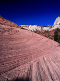 Slick Rock Country Near Checkerboard Mesa, Zion National Park, Utah Photographic Print by Brent Winebrenner