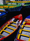 Colourful Boat in Harbour, Valparaiso, Chile Photographic Print by Richard I'Anson