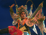 Chinese Opera Performer at Sheng Hong Temple, Singapore Photographic Print by Michael Coyne