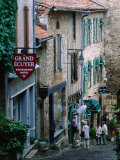 Street in Town, Cordes-Sur-Ciel, Midi-Pyrenees, France Photographic Print by John Elk III