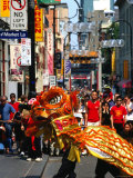 Dragon Dance During Chinese New Year, Chinatown, Melbourne, Victoria, Australia Photographic Print by Greg Elms