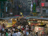 Crowded Night Market, Keelung, Taipei, Taiwan Photographic Print by Brent Winebrenner