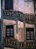 Detail of House, Conques, Midi-Pyrenees, France Photographic Print by John Elk III