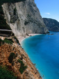 High Angle View of Beach at Porto Katsiki, Lefkada Island, Ionian Islands, Greece Photographic Print by Doug McKinlay