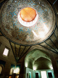 Interior of the Dome of Ince Minare Museum, Konya, Turkey Photographic Print by John Elk III