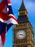The Union Jack Flag and Big Ben, London, England Photographic Print by Doug McKinlay