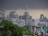 Storm Arriving on the Bund, Shanghai, China Photographic Print by Brent Winebrenner