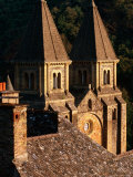 12th Century Abbey St. Foy, Conques, Midi-Pyrenees, France Photographic Print by John Elk III