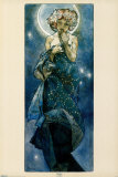 The Moon Print by Alphonse Mucha