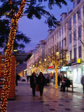 Praca de Dom Pedro Iv at Christmas, Lisbon, Portugal Photographic Print by Brent Winebrenner