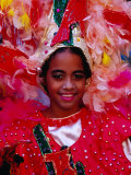Young Girl from Folk Dance Group Preparing for Parade during Feria de la Chinita, Zulia, Venezuela Photographic Print by Krzysztof Dydynski